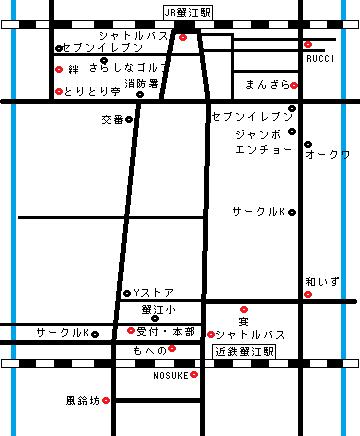 街コン地図 参加店と目印になる建物