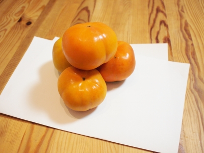 柿のお供え131014