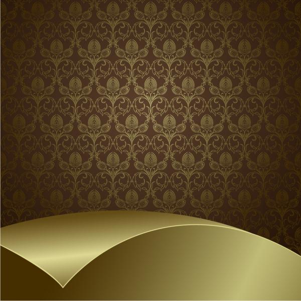 美しい曲線を交えたシームレスな背景 classic european pattern background1
