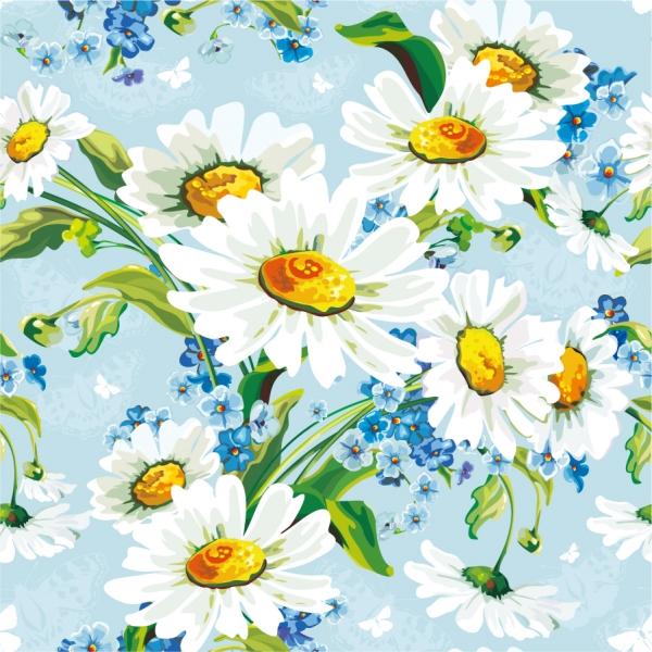 水彩画風の白い花びらの背景 beautiful flowers background