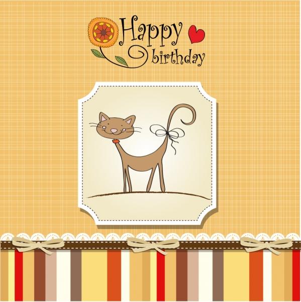 可愛い誕生日カードの背景 Cartoon beautiful birthday card