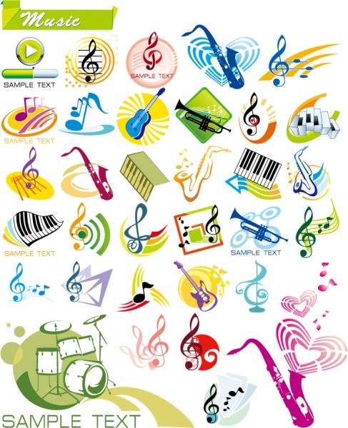 音楽をテーマにしたクリップアート music theme graphics