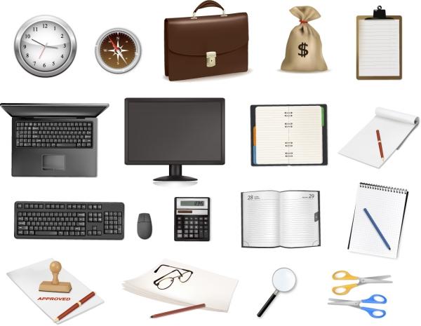 事務用品のアイコン office icon vector series