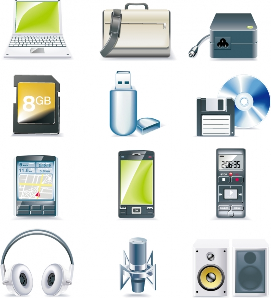 デジタル機器のクリップアート digital equipment icon vector