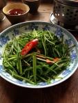 水蓮菜炒め
