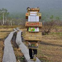 山に荷物を運ぶ人