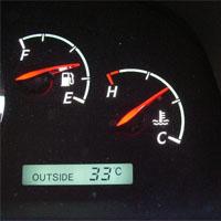 車の水温計