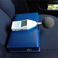 車内の騒音計測