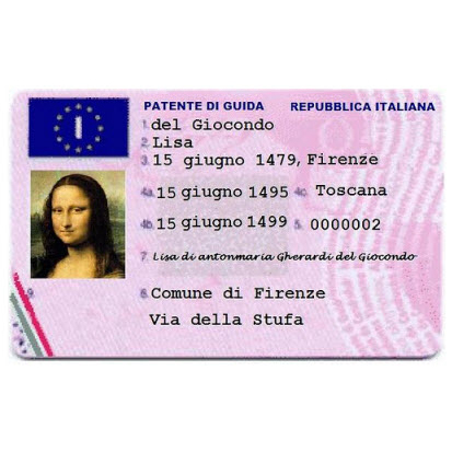 モナリザの免許証