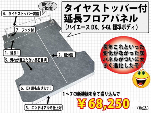 【ハイエース】【床】フロアパネル1
