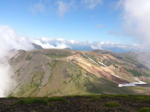凌雲岳、黒岳方面