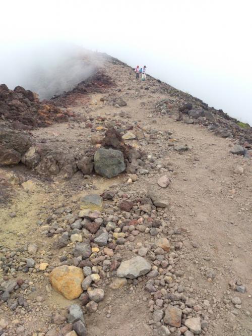 登りより下りの方が、気を使う山だね…