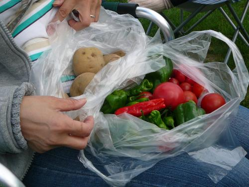 直売所があって取れたての季節野菜も売ってます!
