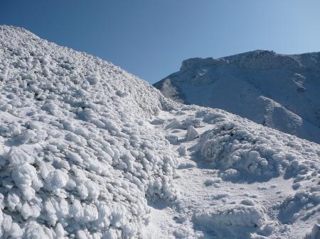 ここを登りきれば上富良野岳山頂!