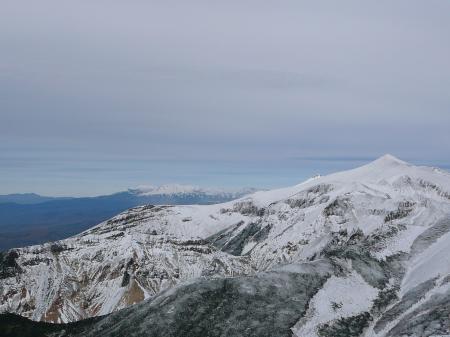 大雪山も真っ白だね~
