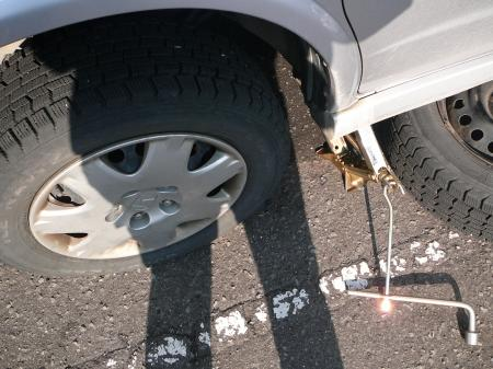 タイヤ交換代はおこずかいへ(笑)