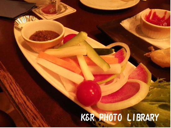 彩り野菜のスティックサラダ