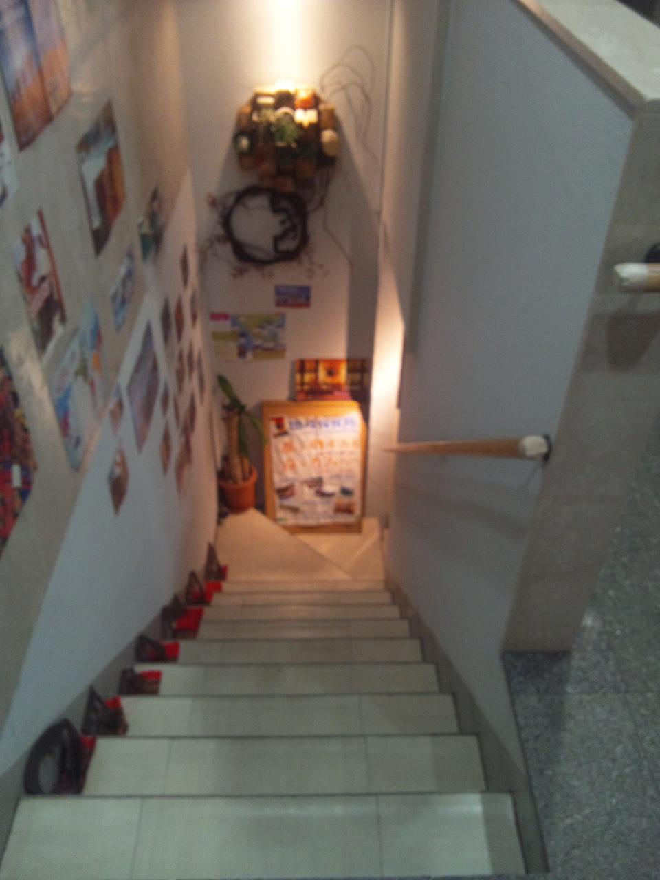 地球探検隊旅するカフェバー(階段)