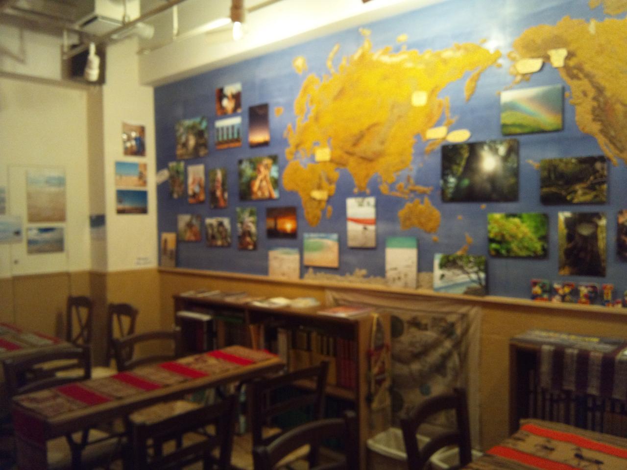 地球探検隊旅するカフェバー(店内)