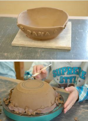 初めての陶芸子供2