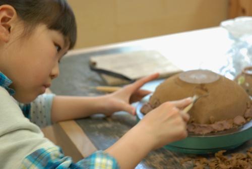 初めての陶芸子供1