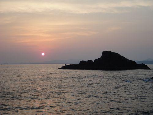 中美漁夕日