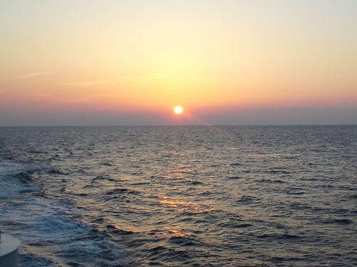 五島灘の夕日