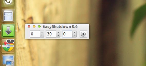 EasyShutdown Ubuntu シャットダウンタイマー 時間の設定