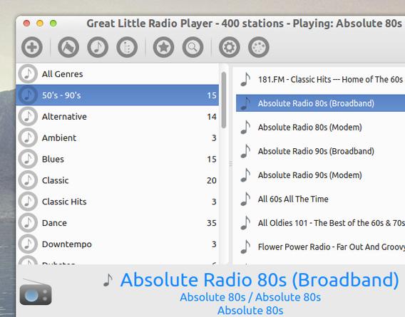 Great Little Radio Player Ubuntu インターネットラジオ 使い方
