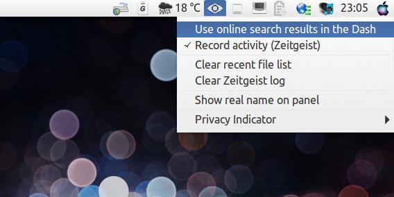 Privacy Indicator Ubuntu プライバシー設定 パネル
