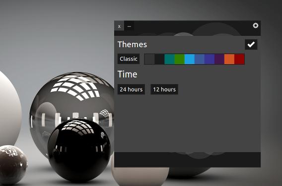 UP Clock Ubuntu 時計 ウィジェット オプション