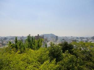 湯築城展望台景色