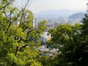 徳島城本丸からの景色