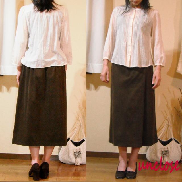 簡単ラップ風スカートの型紙