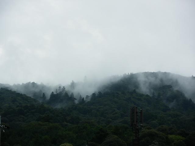 高畑町から見た靄