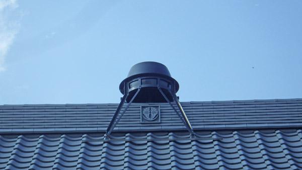 屋根のお釜