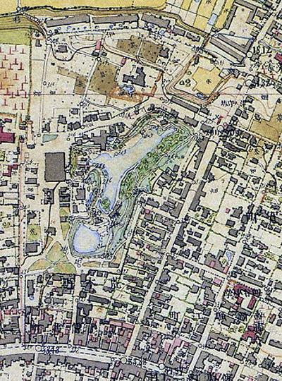 明治16年 荒木町付近の図