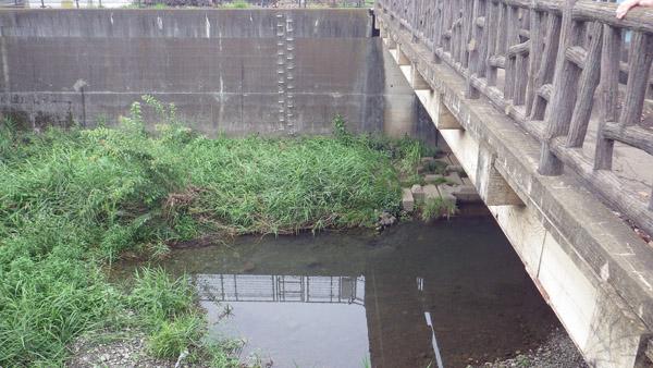 玉川上水と残堀川の交差地点