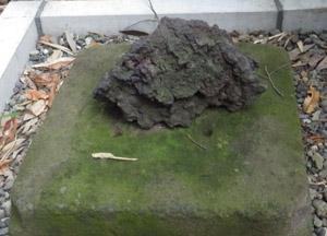 浅間神社横の溶岩