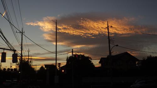 新町の夕焼け