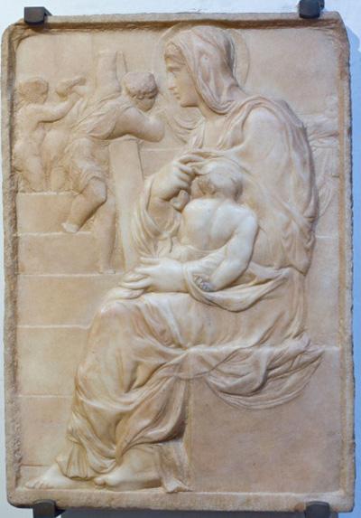 ミケランジェロ「階段の聖母」