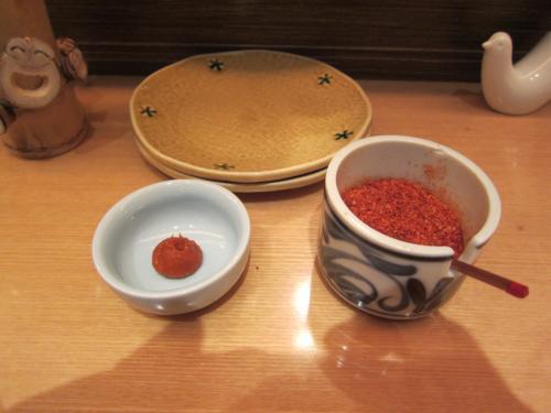 七味、柚子胡椒
