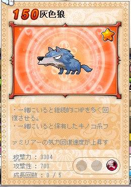 レア.灰色狼、260.370