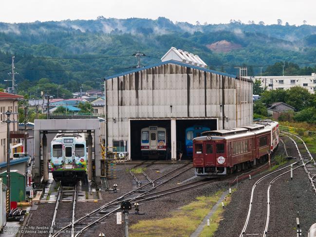 久慈駅の車両基地