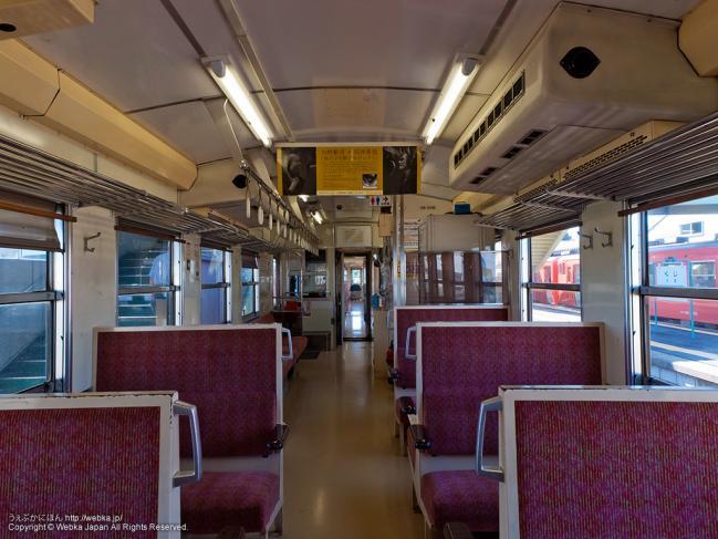 あまちゃんロケで使った三陸鉄道北リアス線の列車の車内(三陸鉄道36-100形気動車)