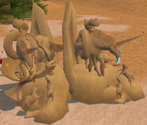 合体 海岸 彫刻 46