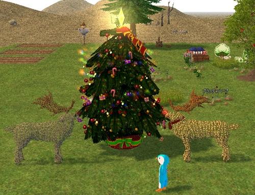 イルミネーション クリスマスツリー 農場