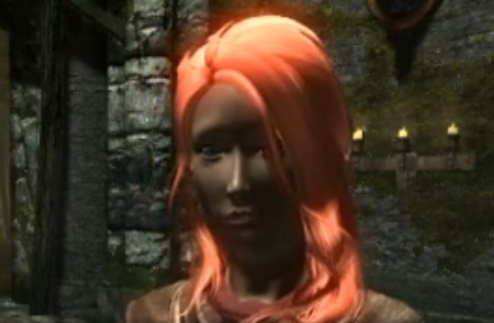 スカイリム最初のキャラの顔