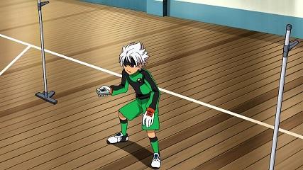 バスケコートで練習