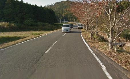 土山18キロ過ぎの上り坂(入口)
